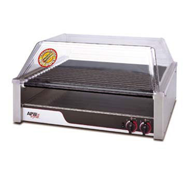 APW Wyott HRS-45 Hot Dog Grill, Non Stick Rollers, 23.75 x