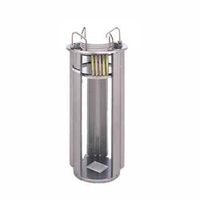 APW Wyott L-9A Deluxe Drop In Dish Dispenser w/ Open Frame, 1-Tube, Max 9-1/8-in Dish