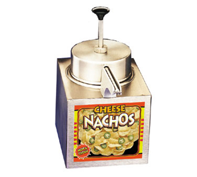 APW Wyott LCCW Lighted Pump Type Nacho Cheese Warmer, For #10 Cans, Stainless, 120 V