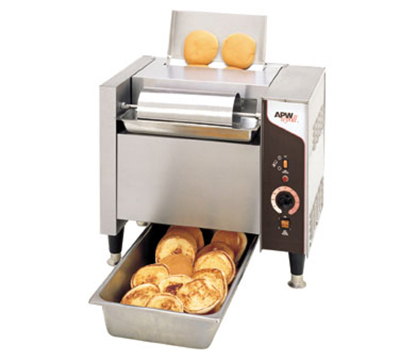 APW Wyott M-95-2FD-CE Bun Grill Toaster w/ Low-Profile Conveyor, 55-Second Gear, Export