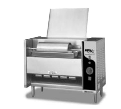 APW Wyott M-95-3 Vertical Conveyor Bun Grill Toaster, 1300 Units/Hr, Stainless, 208 V