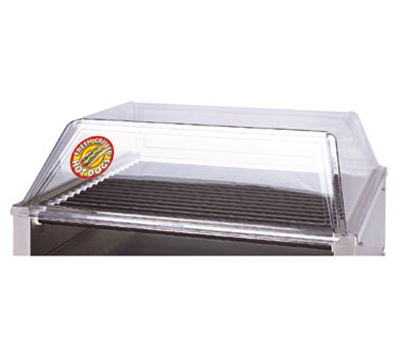 APW Wyott SG-75/85 Sloped Front Hot Dog Grill Sneeze Guard, Removable Door, 36 x 31 in Grills