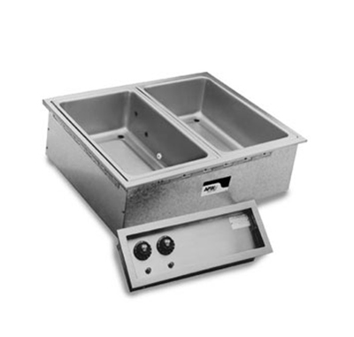 APW Wyott SHFWEZ-3D Drop-In Hot Food Well Unit w/ Drain & 3-Pan Size, 208/3 V