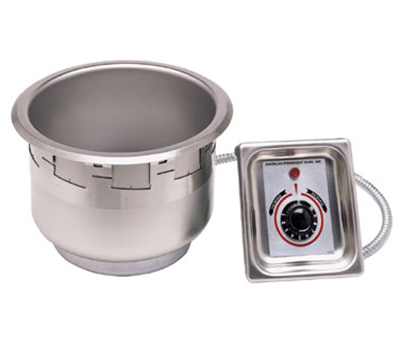 APW Wyott SM-50-7 UL 7 Qt Drop In Food Warmer, Drain, Wet or Dry, Stainless, 208 V, UL