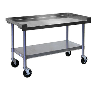 APW Wyott SSS-24L Heavy Duty Cookline Equipment Stand, 24 x 24 in D, 1 in Bullet Feet