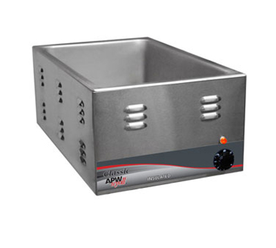 APW Wyott W-3VI Countertop Food Warmer w/ 1-Pan Capacity, Wet & Dry Operation, Export