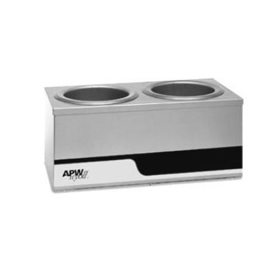 APW Wyott W4-2 Dual Warmer Holds (2) 4-qt Inset Pans, Individual Controls, 120 V