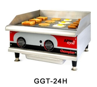 "APW Wyott GGT-24I 24"" Griddle - 1"" Steel Plate, Thermostatic Control, NG"