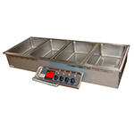 APW Wyott HFW-5D Drop-In Hot Food Well Unit w/ Drain & Manifold, 5-Pan Size, 208/240/3 V