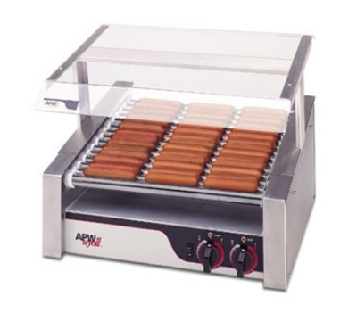 APW Wyott HR-31S Hot Dog Grill, Slanted Chrome Rollers, 460-Franks, 240 V