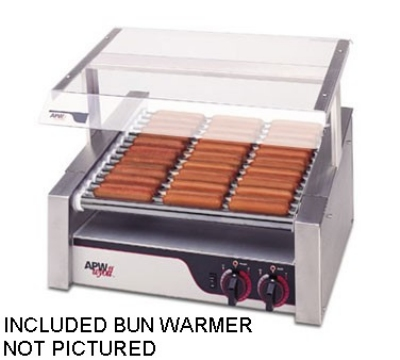 APW HR-31BW HotRod Hot Dog Roller Grill w/ Bun Warmer Restaurant Supply