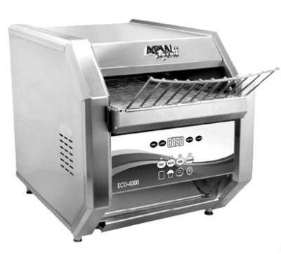 APW Wyott ECO 4000-500L ECO-4000 Conveyor Toaster, Analog Controls, 500 units/hr, 208 V