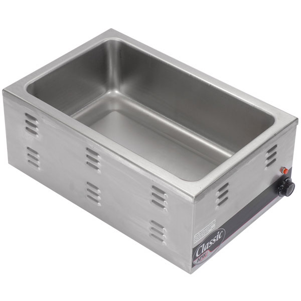APW Wyott W-43V Countertop Food Warmer, 12 x 27 in Pan Opening, Wet or Dry, 120 V