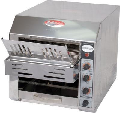 BakeMax BMCT300 Conveyor Toaster w/ 2-Slice Feed, 360 Units/Hr, 120 V