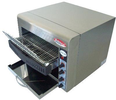 BakeMax BMCT450 Conveyor Toaster w/ 3-Slice Feed, 500 Units/Hr, 220 V