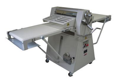 BakeMax BMFRS03 Floor Model Dough Sheeter, Reversible, 25 in x 95 in Work Length