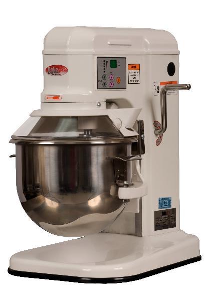 BakeMax BMPM007 7 Qt Planetary Mixer w/ SS Bowl, Dough Hook, Flat Beater, Wire Whip