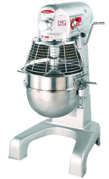 BakeMax BMPM030 30 Qt Planetary Mixer w/ SS Bowl, Dough Hook, Flat Beater, Wire Whip