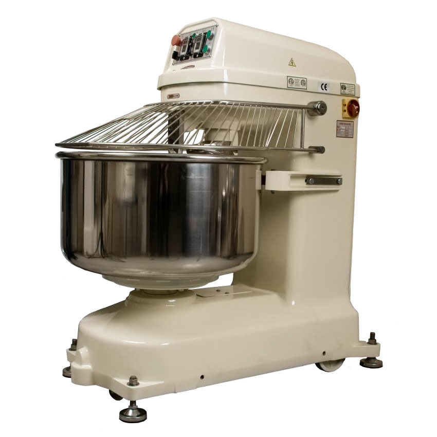 BakeMax BMSM280 Countertop Spiral Mixer - 620-lb Dough Capacity, 2-Speed, Stainless