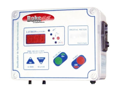 BakeMax BMWM015 Water Meter, Auto Mixer Model, Digital Display, 999-Max Capacity of Measurement