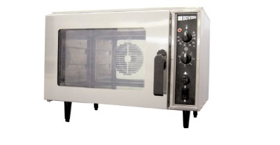 Doyon DC03 Countertop Oven w/ Full View Glass Door, 3-Half Pan, Stainless
