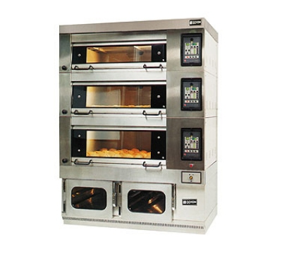 Doyon 2T-3 440 Artisan Stone Triple Deck Oven For 6-Pans,