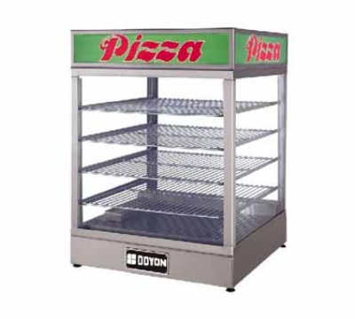 Doyon DRP4 Warmer/Display Case For (4) 20-in Pizzas, Logo