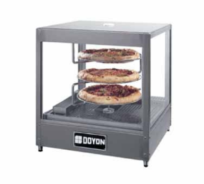 Doyon DRPR3 Warmer/Display Case For (3) 18-in Pizzas, Revolving Rac