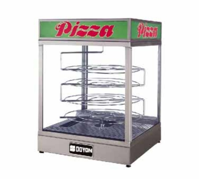 Doyon DRPR4 Warmer/Display Case For (4) 20-in Pizzas, Revolving Rack, Logo