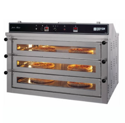 Doyon PIZ6 Electric Triple Deck Countertop Pizza Oven, 220/1v