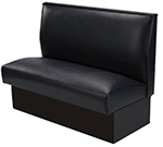 "AAF BV-S36 Single Booth - Upholstered Plain Back, Hardwood Frame, 46x36"", Black"
