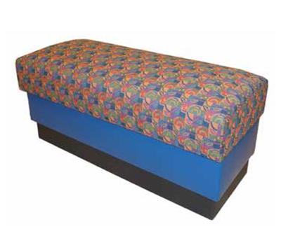 AAF B-WBGR6 Backless Waiting Bench w/ Upholstered Seat & Hardwood Frame, Grade 6