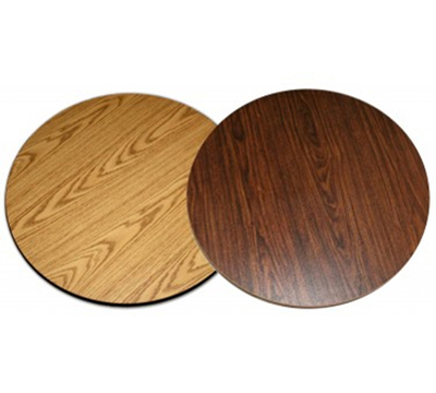 AAF DT24R 24-in Reversible Round Table Top w/ 1-in Thick, Rubber T Mold Edge, Melamine