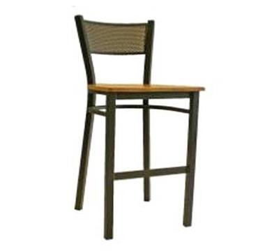 "AAF MC311-BS BL Barstool - Metal Mesh Back, 2"" Padded Upholstered Seat, Stainless Steel Frame, Bl"
