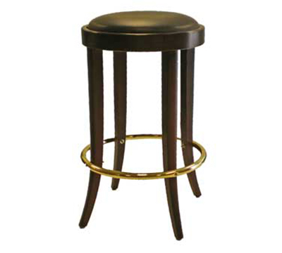 AAF WC105GR6 Backless Barstool w/ Upholstered Round Seat, German Beech Wood, Grade 6