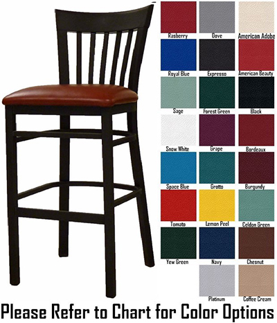 AAF MC205-BSGR5 Metal Slat Back Barstool w/ Textured & Grade 5,