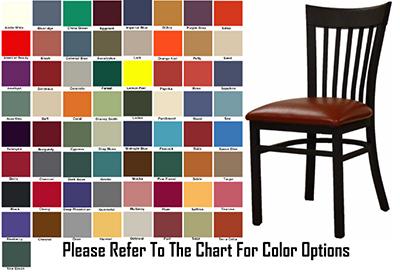 AAF MC205GR6 Metal Slat Back Side Chair w/ Textured & Grade