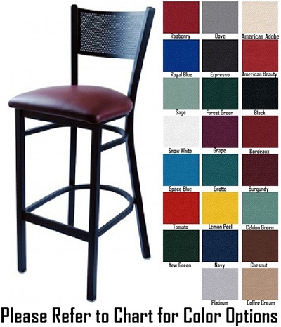 AAF MC311-BSGR5 Metal Mesh Back Barstool w/ Textured & Grade 5,