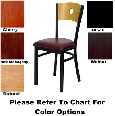 AAF MC350AWS Circle Cutout Back Side Chair w/ Solid Wood Seat & 16-