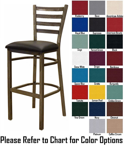 AAF MC403-BSGR5 Upholstered Barstool w/ Metal Ladder Bac