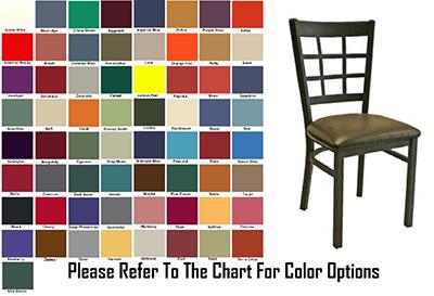 AAF MC450GR6 Upholstered Side Chair w/ Metal 9-Grid Window Back & Grad