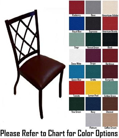 AAF MC460GR5 Upholstered Side Chair w/ Metal Diamo