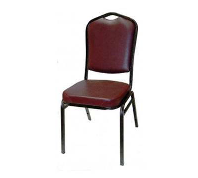 AAF MC500RD Shield Back Banquet Stacking Chair Handhold Padded Wate