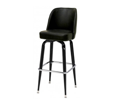 AAF MS18B-LBL Heavy Duty Swivel Barstool w/ Upholstered Bucket Style Seat & Black Vinyl
