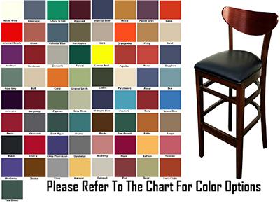 AAF WC808-BSGR6 Upholstered Barstool w/ Wood Ova
