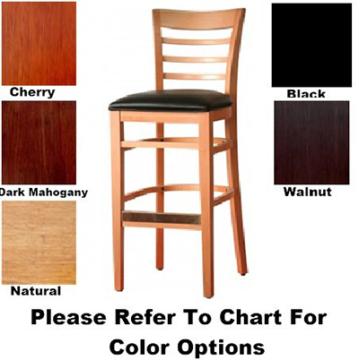 AAF WC822-BSBL Upholstered Barstool w