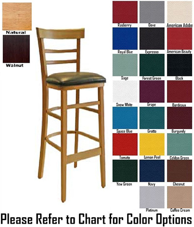 AAF WC836-BSGR5 Economy Barstool w/ Wood Ladder Back & German Beech Wood, Grade 5
