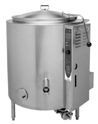 Blodgett 100G-KLS LP 100-Gallon Stationary Kettle w/ Hinged Cover, NG