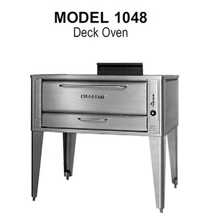 Blodgett 1048 BASE LP Deck Type Gas Pizza Oven (base only), 48 in Wide x 37 in Deep