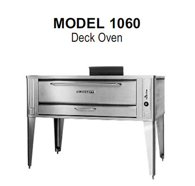 Blodgett 1060 BASE NG Deck Type Gas Pizza Oven (base only), 60 in Wide x 37 in Deep,